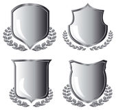 Silver shields Royalty Free Stock Photo