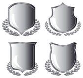 Silver shields Royalty Free Stock Photo