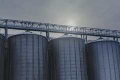 Agricultural silos Royalty Free Stock Photo