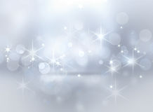 Silver shining Christmas background Royalty Free Stock Photos