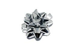 Silver shiny bow Royalty Free Stock Image