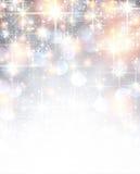 Silver shiny christmas background. Silver shiny defocused christmas background. Vector starry illustration Royalty Free Stock Photo