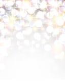 Silver shiny christmas background. Silver shiny defocused christmas background. Vector starry illustration Stock Image