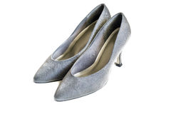 Silver shoes Stock Photography