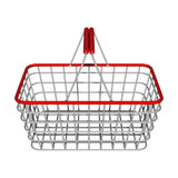 Silver shop basket Royalty Free Stock Images