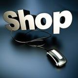 Silver shop online Stock Photo