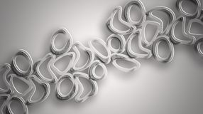 Silver Short Chain Tube Background Stock Images