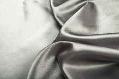 Silver silk Stock Photo