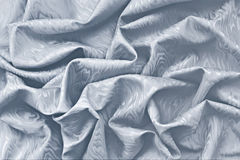 Silver silk damask with wavy texture Royalty Free Stock Photos