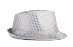 Silver silk hat for the summer Stock Photos