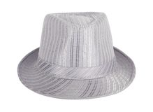 Silver silk hat for the summer Stock Photo