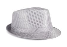 Silver silk hat for the summer Stock Photography