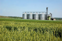 Free Silver Silo Stock Photography - 5302842