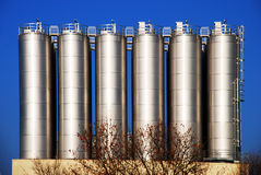 Silver Silo royalty free stock photography