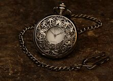 Silver Sk Pocket Watch Royalty Free Stock Image