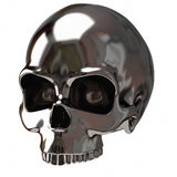 Silver skull Stock Images
