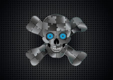 Silver skull Royalty Free Stock Photography