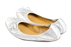 Silver Slippers Royalty Free Stock Photo