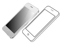 Silver Smart Phone Vector Royalty Free Stock Photo