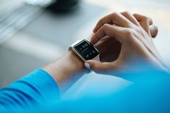 Silver Smart Watch Royalty Free Stock Photo