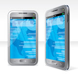 Silver Smartphone Royalty Free Stock Photos