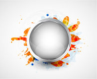 Silver smooth plate. Vector background Royalty Free Stock Photography