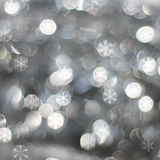 Silver snow background Stock Image