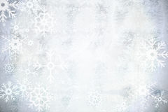 Silver snow flake pattern design Royalty Free Stock Photography
