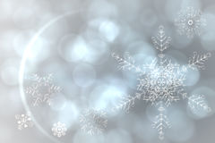 Silver snow flake pattern design Stock Image