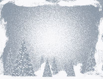 Silver Snow Storm Christmas Stock Images