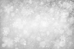 Silver snowfall with sparkle illustration background Royalty Free Stock Images