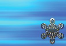 Silver snowflake. Snowflake background produced by photoshop high quality standart Royalty Free Stock Photo