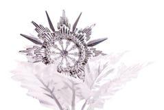 Silver Snowflake Stock Photos