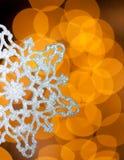 Silver snowflake Royalty Free Stock Photo