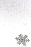 Silver snowflake. On white background Royalty Free Stock Photos