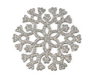 Silver snowflake Royalty Free Stock Image