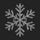 Silver snowflake from Christmas decoration. Royalty Free Stock Photos