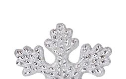 Silver snowflake decoration. Stock Photos
