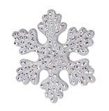 Silver snowflake decoration. Stock Photos