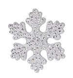 Silver snowflake decoration. Stock Image