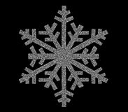 Silver snowflake icon Stock Images