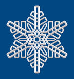 Silver snowflake isolated ornament Royalty Free Stock Photo