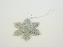 Silver Snowflake for X`mas party Royalty Free Stock Photo
