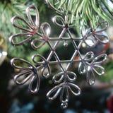 Silver Snowflake Ornament Stock Image