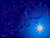 Silver Snowflake Swirls. Illustration of background with Christmas elements with photo montage of silver snowflake star Stock Photos