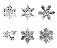 Silver snowflakes Stock Image