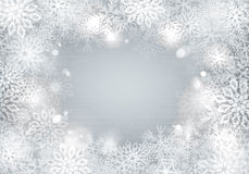 Silver snowflakes background Royalty Free Stock Images