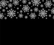 Silver snowflakes pattern. Silver snowflakes on transparent and black background vector illustration