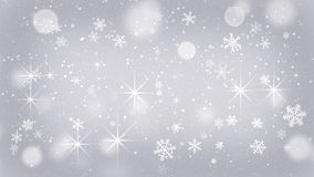 Silver snowflakes and stars abstract background Royalty Free Stock Photos