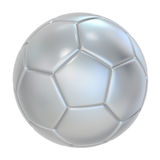 Silver Soccer ball Stock Image